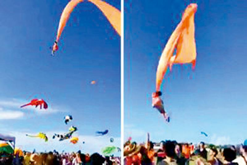 ?新竹3岁女童遭风筝捲上天 脸颈擦伤