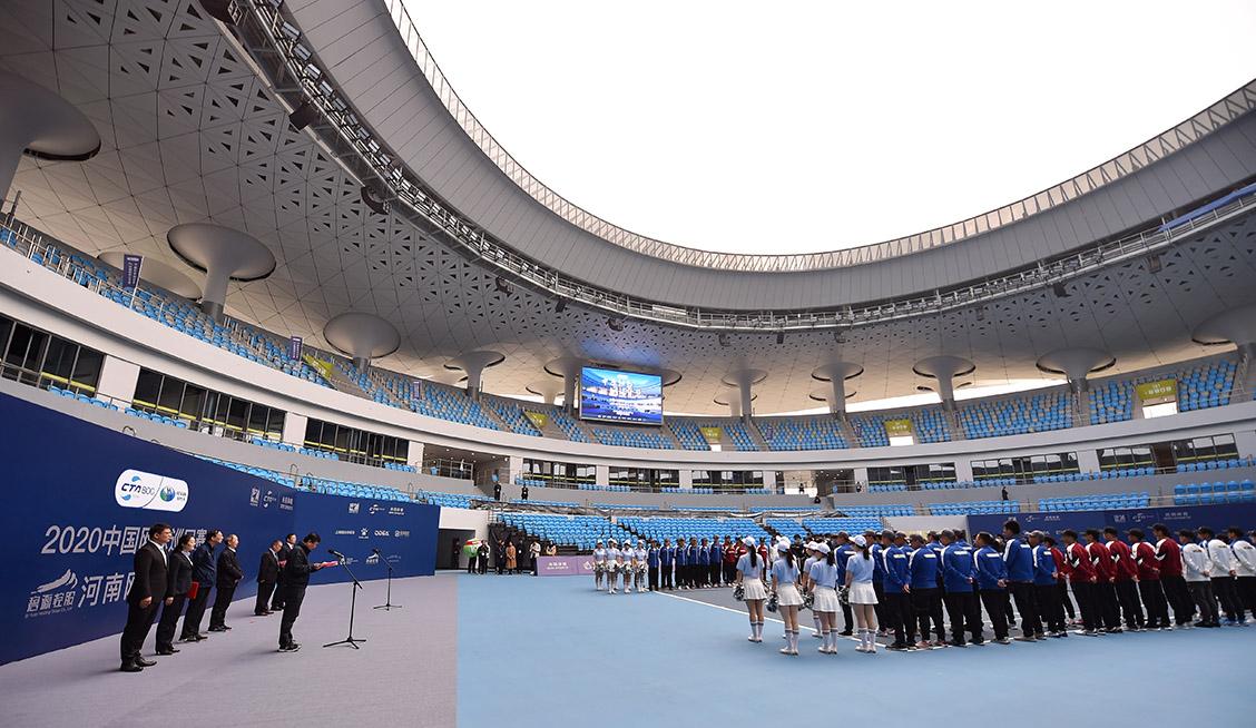 全國250余選手角逐河南網球公開賽