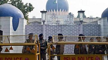 巴基斯坦驻印度使馆外 一名印士兵突然开枪自杀