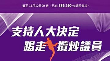 逾38萬香港網民聯署支持人大決定