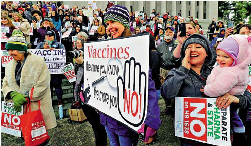 逾四成美国人拒打疫苗
