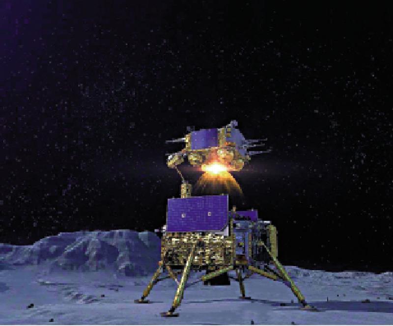 嫦五飞离月球 携带样本返航