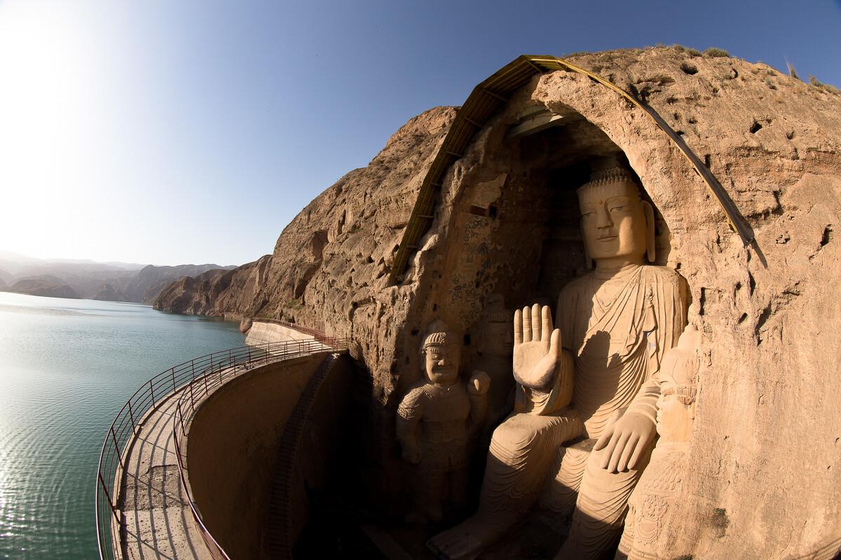 甘肅:距今約1600年「天梯山石窟壁畫」實現可移動展出