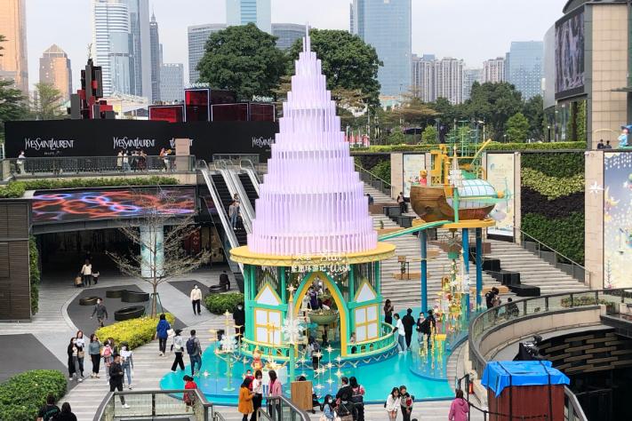 華南最大商圈升級  港資商場打做夢幻聖誕