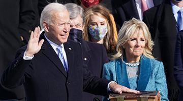 拜登宣誓就任美国总统 抗疫成首要任务