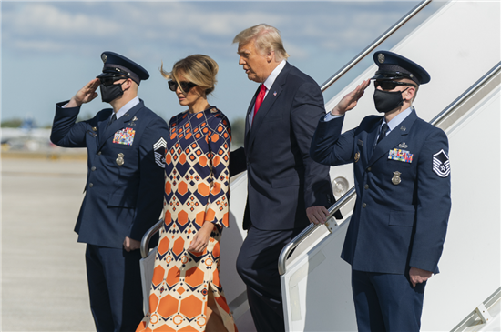 Trump leaves office and Melania returns to Florida