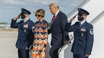 特朗普卸任 與梅拉尼婭返回佛羅里達