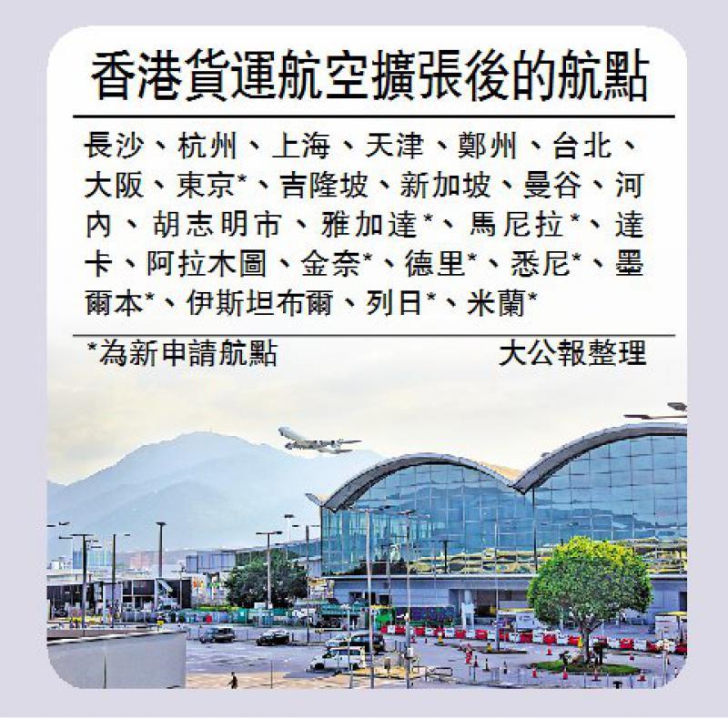 香港貨運航空擬拓9航線