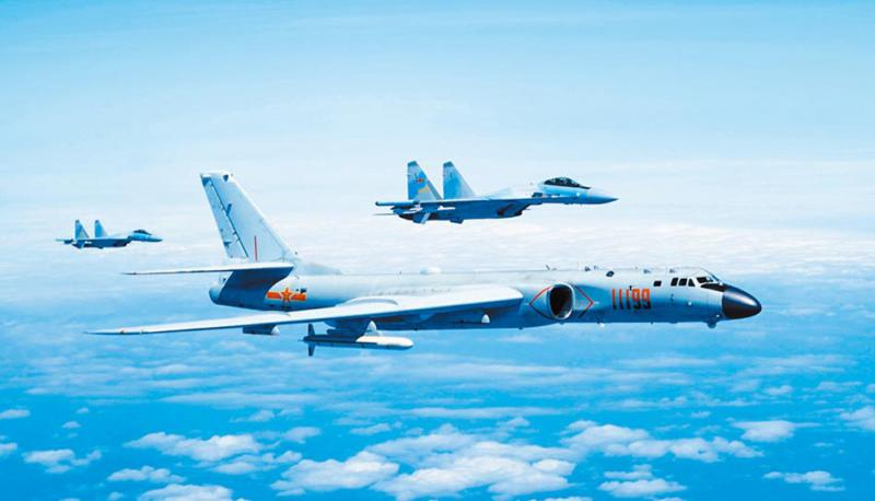 PLA conducted large-scale exercises to frighten 28 fighters into Taiwan's airspace in two days of