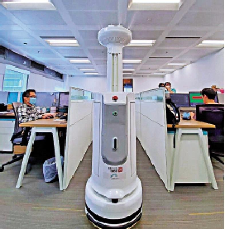 潛力無窮/公司清潔監測 機械人受重用
