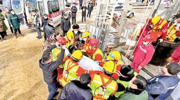 山東金礦爆炸事故11名礦工獲救 10人仍下落不明