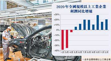 疫情之下,内地全年工业利润增长4.1%