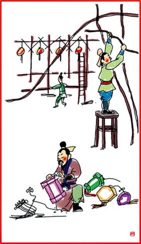 ?春节习俗/正月十二 搭建灯棚