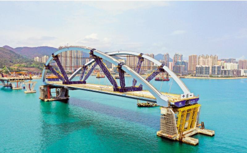 ?将军澳双拱钢桥完成安装