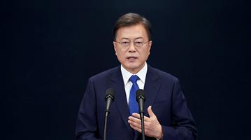 外媒:文在寅促对话改善韩日关系