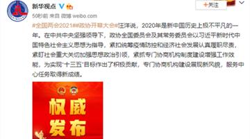 汪洋:2020年是新中国历史上极不平凡的一年