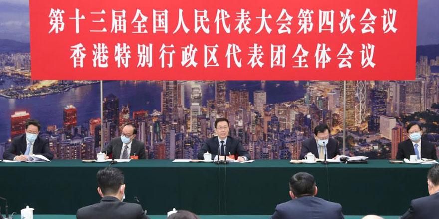 韩正会见林郑月娥 冀做好本地立法工作完善选举制度
