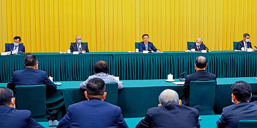 韩正:香港管治权 须由坚定爱国者掌握