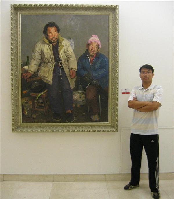 青年画家闫旭和他的粉墨艺术