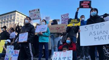 """""""忍无可忍""""!全美多地举行抗议 反对仇视亚裔"""
