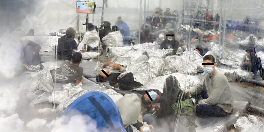 """儿童难民被困""""笼中"""" 美国再现人道主义危机"""