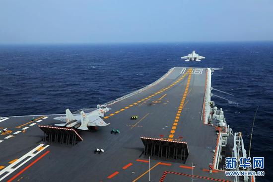 遼寧艦編隊在台灣周邊海域開展訓練