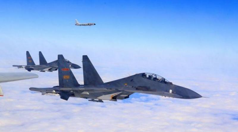 回呛台军 大陆军机:这裏都是中国空域