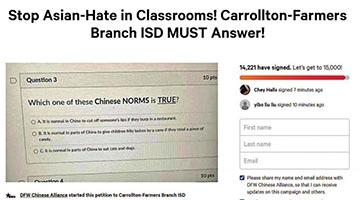 美国超万人网上联署抗议 敦促开除洗脑教师