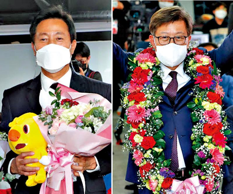 ?首尔釜山市长补选 韩执政党惨败