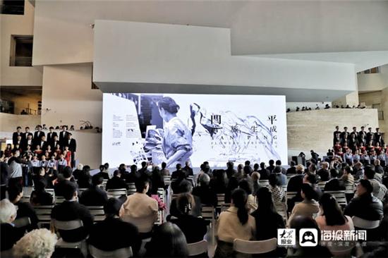"""感受藝術家心底的浪漫 """"閆平·萬簇生成""""藝術展于山東美術館開幕"""