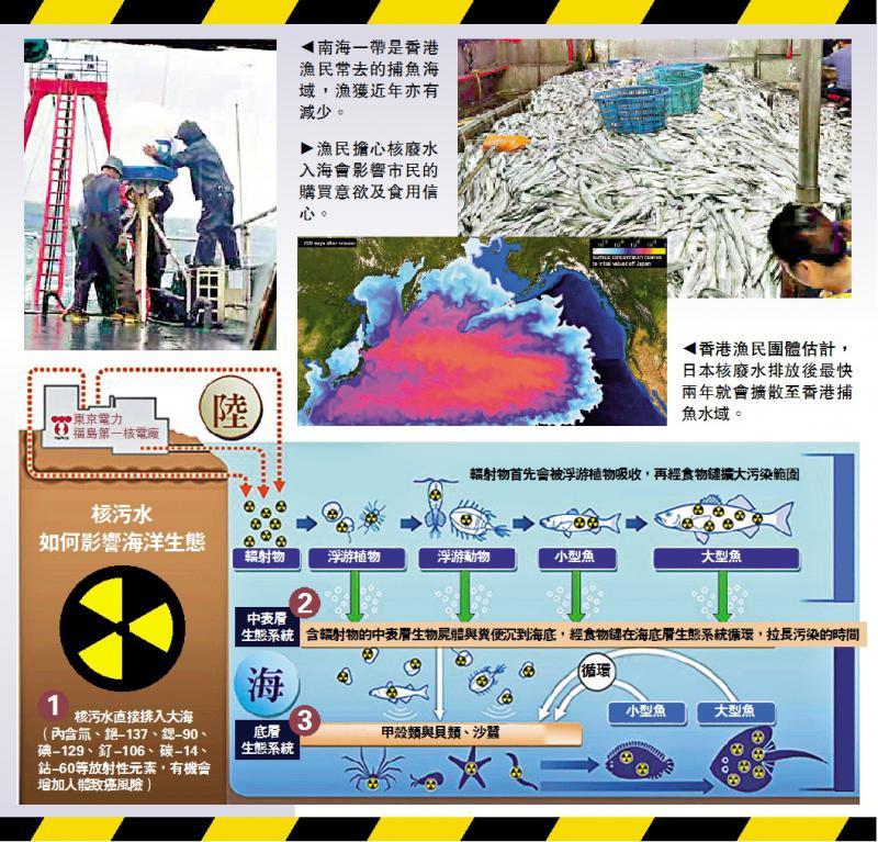 ?新闻追踪/港渔民忧核废水损后代健康\大公报记者 刘婉燕