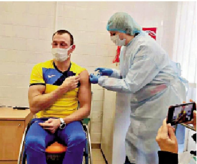 乌克兰奥运健儿接种中国疫苗