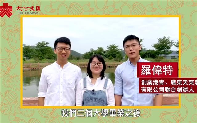 创业港青化身「高科技农夫」 投身湾区圆鱼菜共生梦