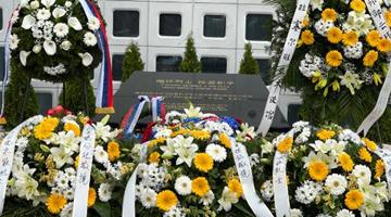 中国驻南联盟使馆遭轰炸22周年 驻塞使馆举行纪念活动