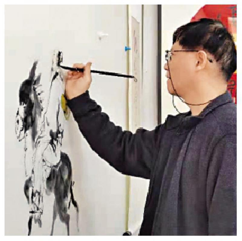 """福建画家黄羨追求""""遗貌取神""""境界"""