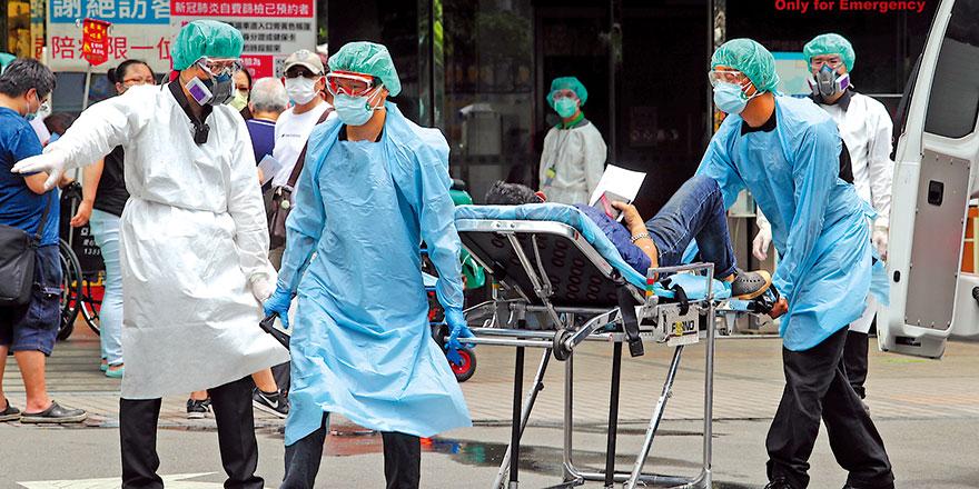 台湾再猛增333确诊病例 3家医院爆集体染疫情况