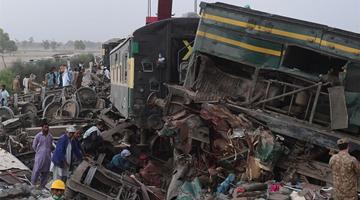 巴基斯坦火車相撞死亡人數增至62人 百余人受傷