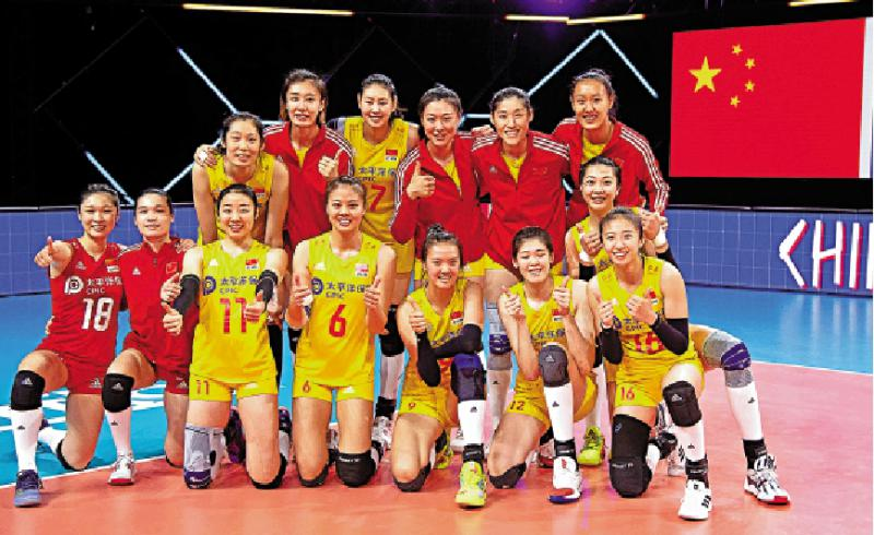 中国女排主力回归完胜荷兰