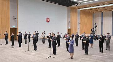林郑月娥:争取未来一个月内安排香港区议员宣誓工作