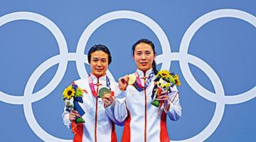 施廷懋夺奥运第三金 母亲:为女儿表现感自豪