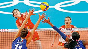中国女排3:0打败意大利 仍无缘八强