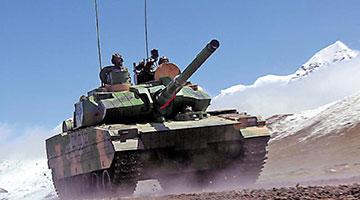 高原新轻型坦克高科技护身 黑豹披铠甲截击来袭箭弹