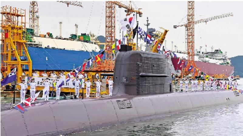 韩国宣布完成潜射导弹水下试射