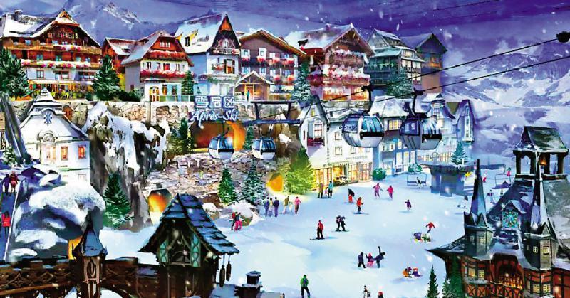 ?旅游新地标/全球最大室内滑雪场 沪冰雪之星明年启用