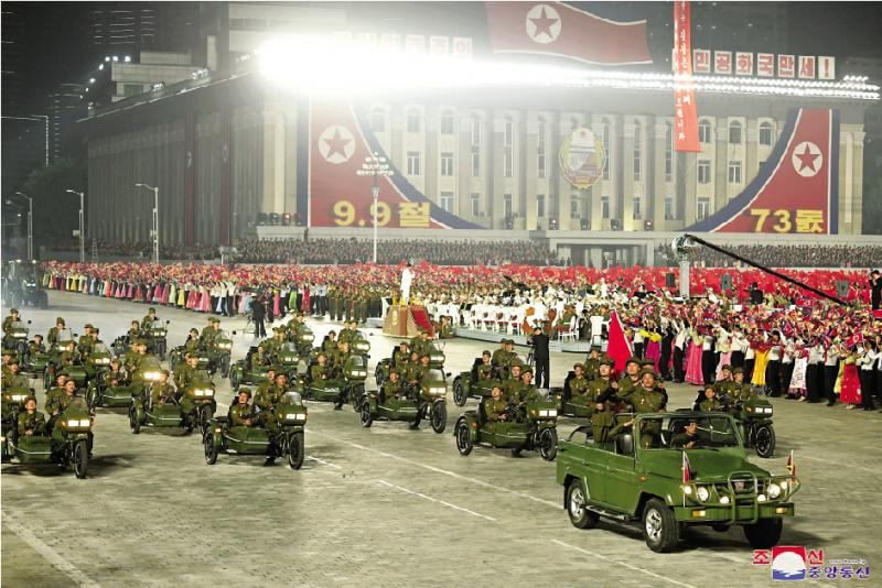 朝鲜国庆凌晨阅兵未见弹道导弹 规模较此前缩小