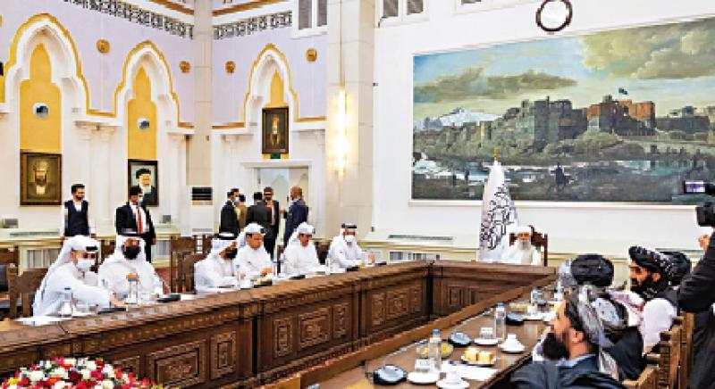 卡塔尔外长到访 塔利班掌权后首接待外宾
