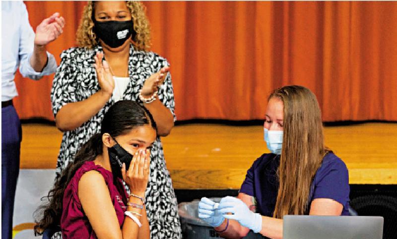 纽约亚裔学生接种率近100%