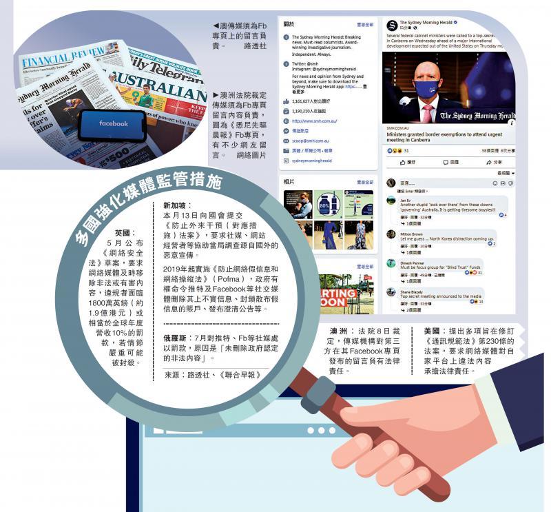 严格监管/澳法院裁定 传媒须为Fb留言负责