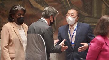 联合国安理会五大常任理事国外长与古特雷斯举行会晤
