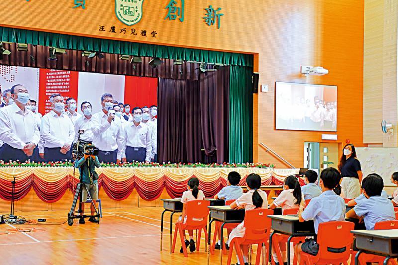 黄坤明勉港小学生投身航天事业